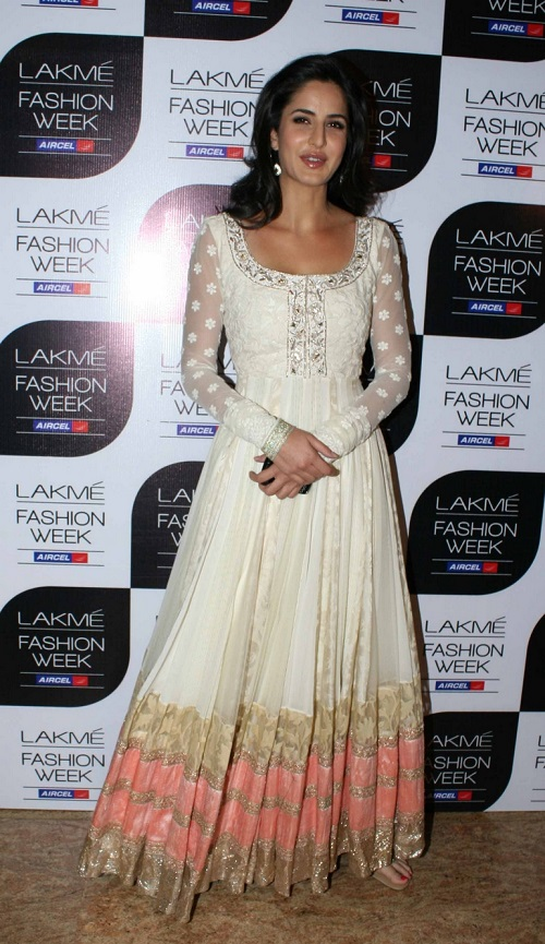 Katrina Kaif manish malhotra lakme fashion week 2011