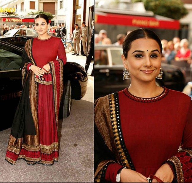 Vidya Balan wore these heavy jhumka