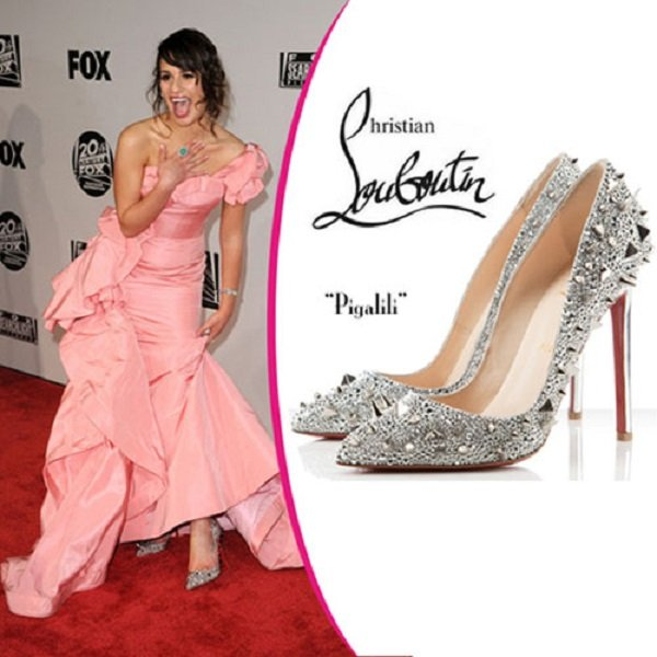 Christian Louboutin Pigalle Spiked silver Pumps