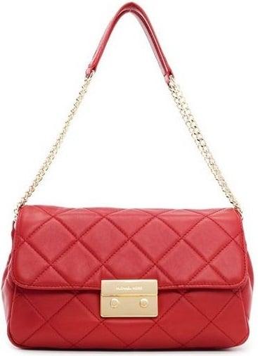 Michael Kors Shoulder Bag Red Quilted Leather