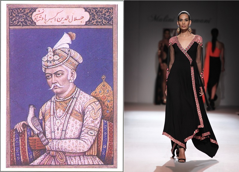 Historical figures who inspired indian fashion mughal akbar angrakha sciox Choice Image