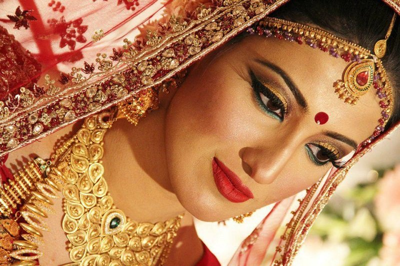 bindi hindu bride north india