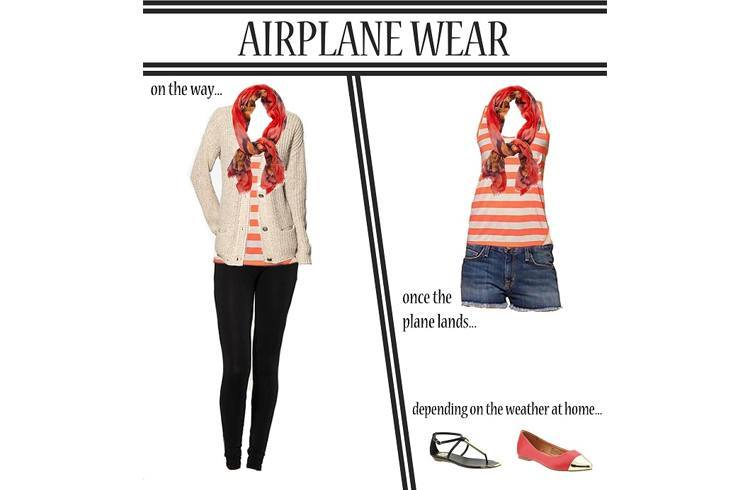 Airport outfits what not to wear