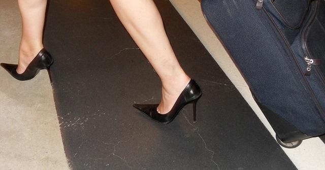 high heels airplane
