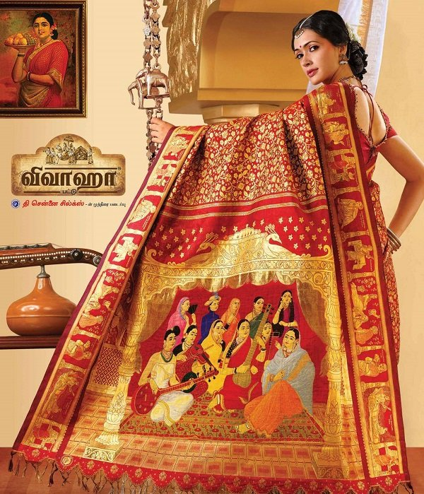 most expensive saree ravi varma painting