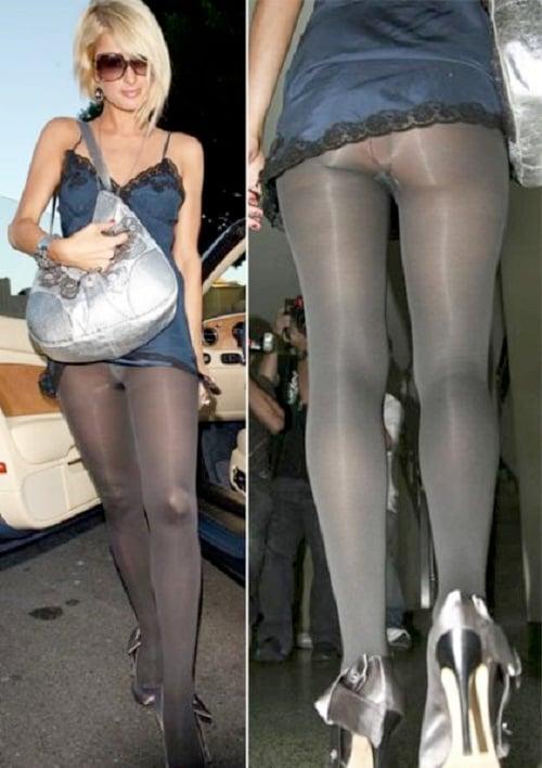 Transparent Tights Paris Hilton