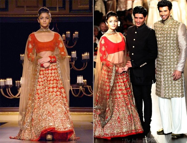 Aditya Roy Kapoor and Alia Bhatt with Manish Malhotra at India Couture Week 2014