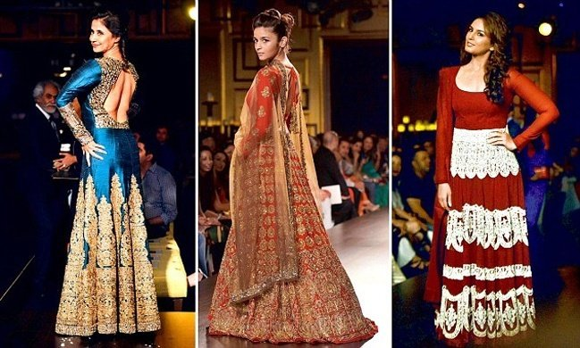 Alia Bhatt, Huma Qureshi and Urmila Matondkar at India Couture Week 2014