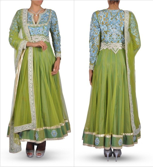 Anarkali Suit for Mehendi