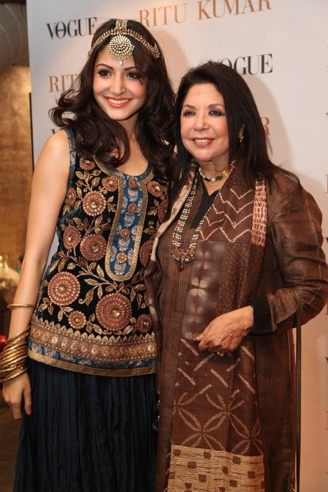 Anushka Sharma and Ritu Kumar at Rajasthan Fashion Week
