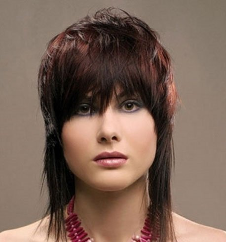 Asymmetrical Feather Cut