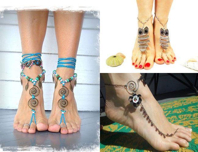 Boho Style Foot Thongs