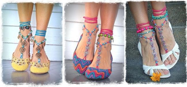 Boho Style Toe Thongs Sandals