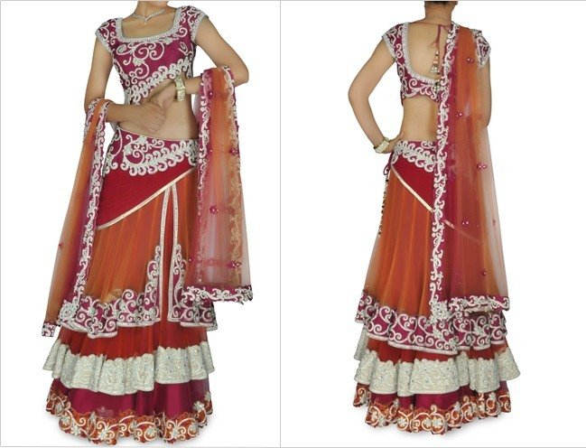 Bridal Blue Lehenga Suit