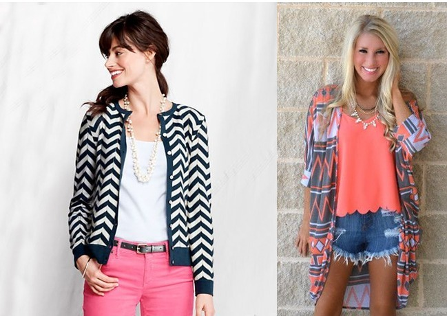 Chevron Cardigans Shrugs