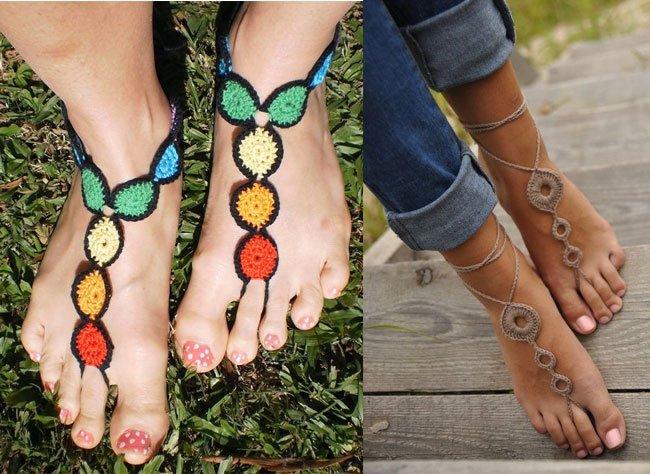 Crochet Thongs Anklets