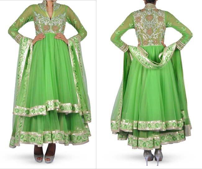 Designer Green Anarkali Dress
