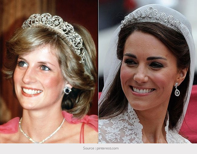 Diana Kate Middleton Diamond Tiara