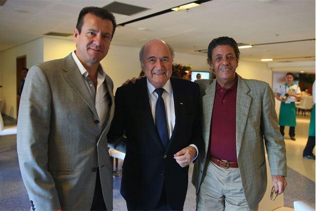 Dunga and Amarildo Tavares da Silveira at the FIFA World Cup
