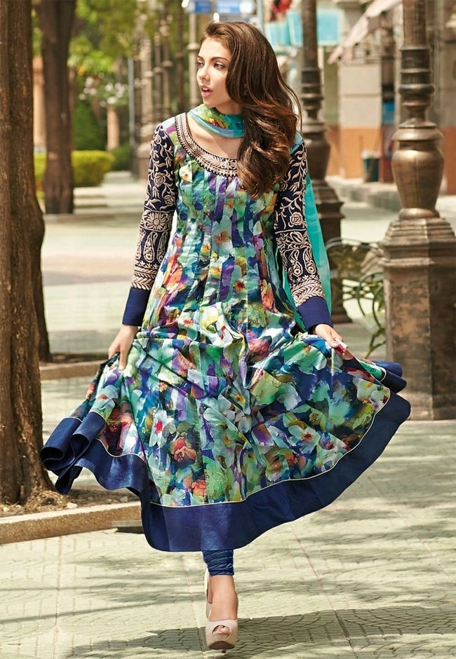 Floral Prints Anarkali Suits