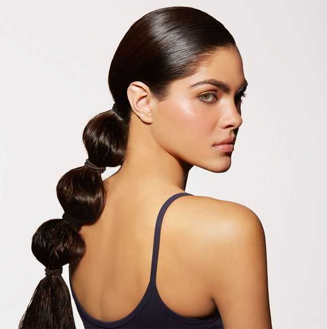 Free style Ponytail Hairstyle Gym
