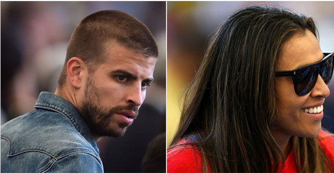 Gerard Pique and Marta at FIFA