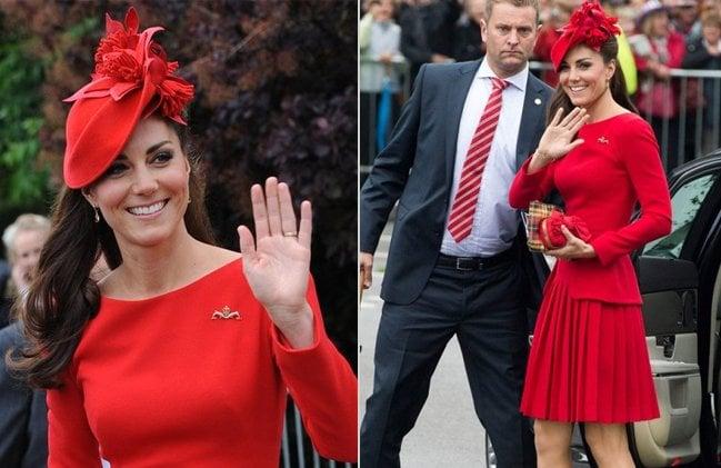 Glitzy Red Hat Kate Middleton