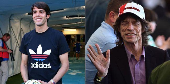 KAKA and Mick Jagger at the FIFA World Cup