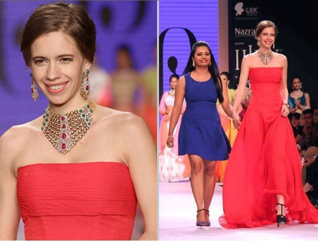 Kalki Koechlin in Preeti collection IIJW 2014
