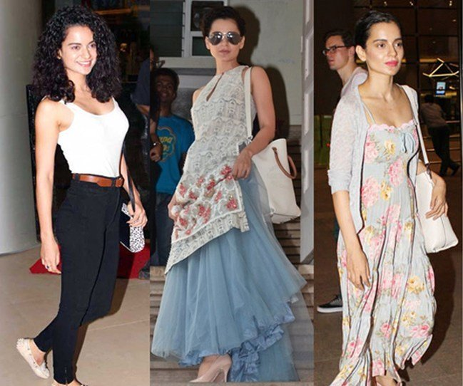Kangana Ranaut in neutral shade