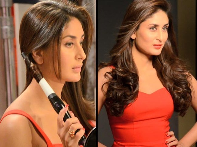 Kareena Kapoor in beach waves hairstyle