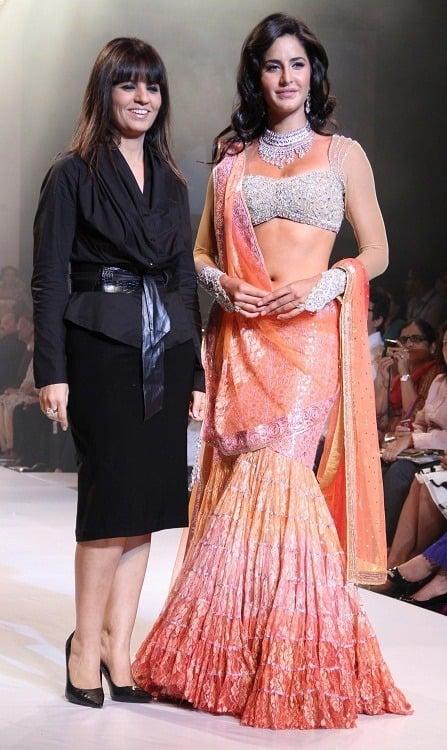 Katrina Kaif in sheer blouse design
