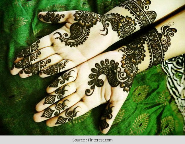 Latest New and Fancy Mehendi Designs for Eid