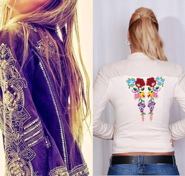 Leather Motorcycle Jackets with Gorgeous Embroidery