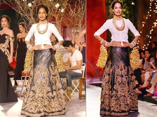 Lisa Haydon at India Couture Week 2014