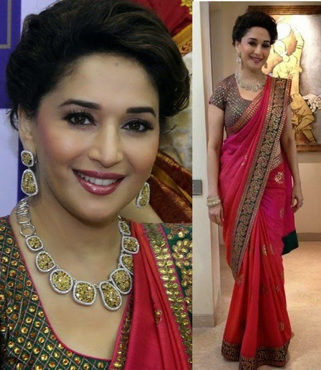 Madhuri Dixits Best Saree Moments Releasing Her Saree Wardrobe