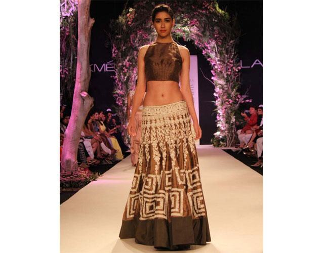 Manish Malhotra Gold and Silver Bridal Lehengas