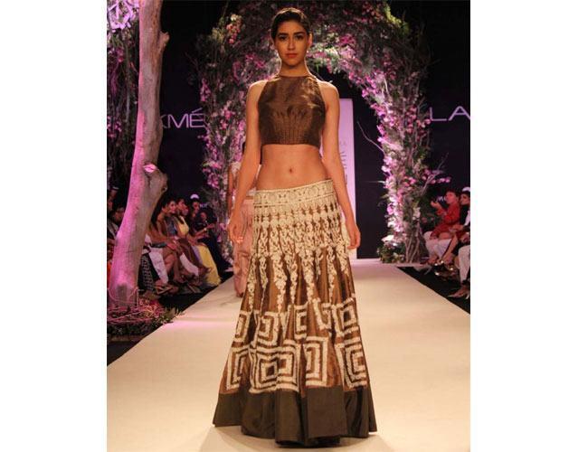 Manish Malhotra Gold and Silver Bridal Lehengas