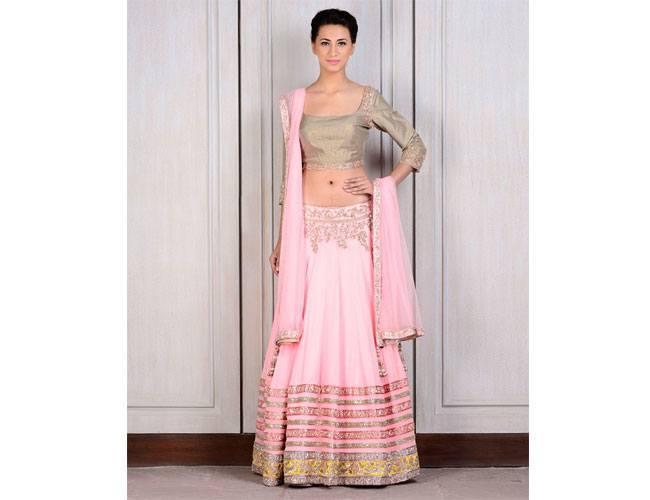 Manish Malhotra bridal pink lehenga