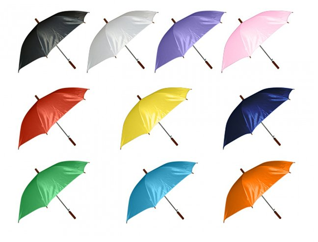 Plain Coloured Umbrellas