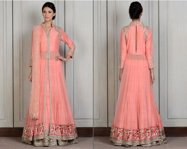 Pretty in Peach Manish Malhotra Lehengas Bridesmaids