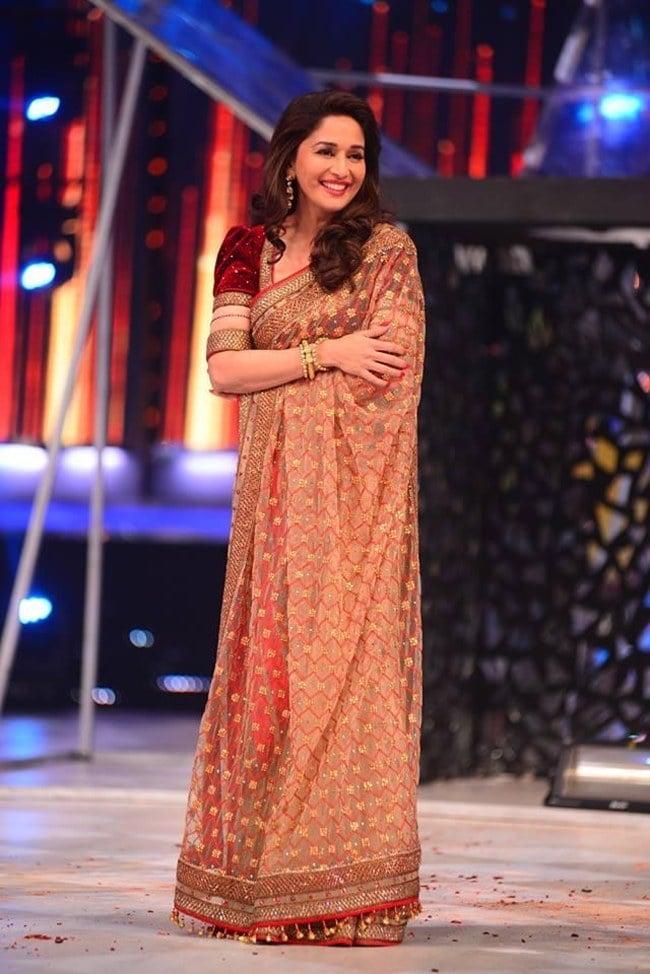 Saree Looks of Madhuri Dixit
