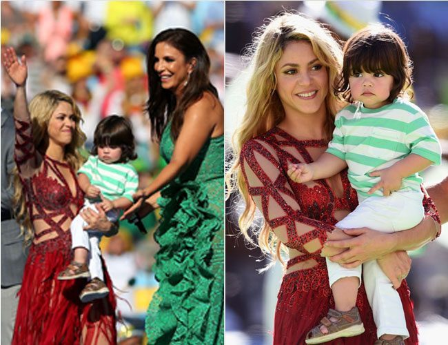 Shakira with son Milan Pique at  FIFA World Cup Ceremony