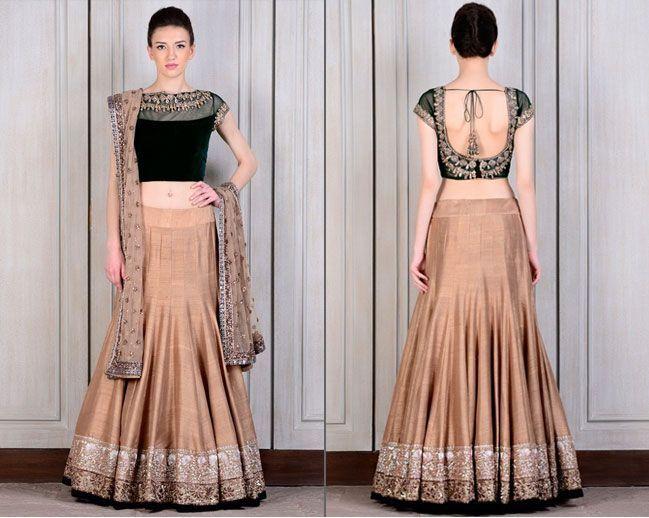 Soft and Elegant Beige by Manish Malhotra Lehengas for Bridesmaids
