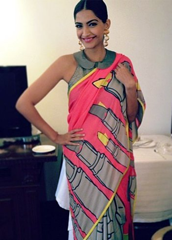 Sonam Kapoor In Masaba Gupta Saree