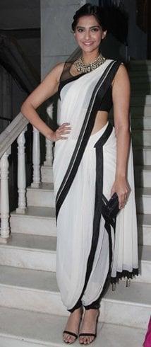 Sonam Kapoor in Dhoti Saree
