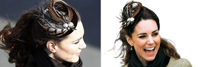 Stylish Feather Fascinator Kate Middleton