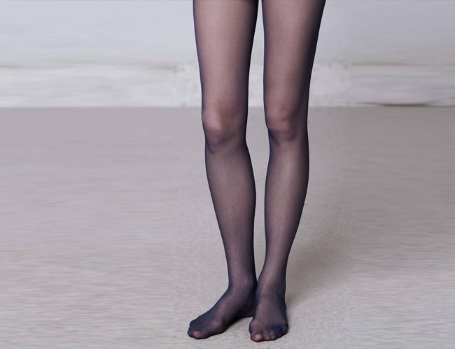 Two Pairs of Black Tights - Sheer & Opaque