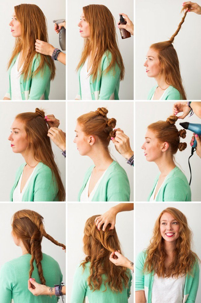Outstanding Quick And Easy 5 Diy Hairstyles For Lazy Mornings Short Hairstyles Gunalazisus