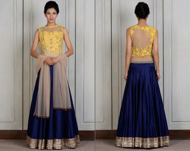Yellow Resham Manish Malhotra Lehengas Bridesmaids